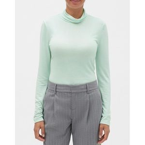 Banana Republic LuxeSpun Turtleneck Mint Sz L NWT